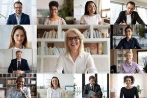 Virtual meeting for women